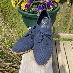 Vince Camuto 'Merley' Navy Leather Oxfords